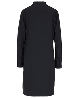 Crepe tunic dress adorned with graphic lace AKRIS PUNTO