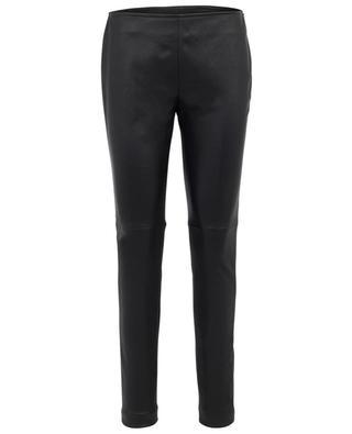 Fancy leather slim fit trousers AKRIS PUNTO