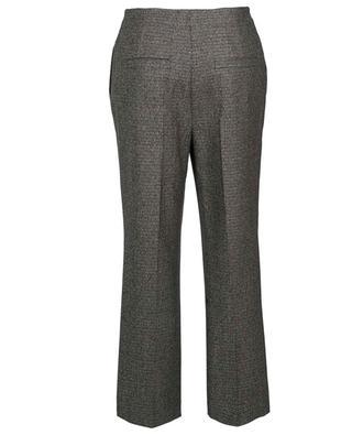 Pantalon large en laine à carreaux prince-de-galles détail Lurex BRUNELLO CUCINELLI