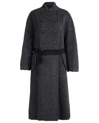 Mohair blend coat with belt BRUNELLO CUCINELLI