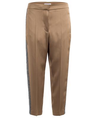 Pantalon raccourci en acétate mélangé BRUNELLO CUCINELLI
