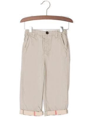 House Check detail cotton chino trousers BURBERRY