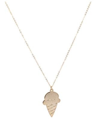 6RBNK47 gold-plated ice cream pendant necklace LES CLEIAS