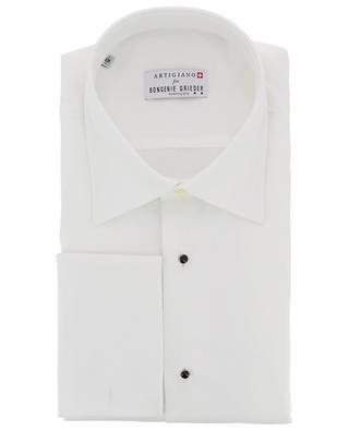 Delft waffle texture cotton shirt ARTIGIANO