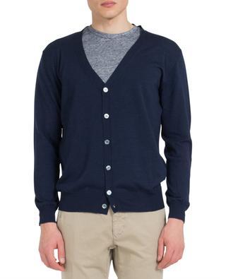 Merino wool and silk cardigan MAURIZIO BALDASSARI