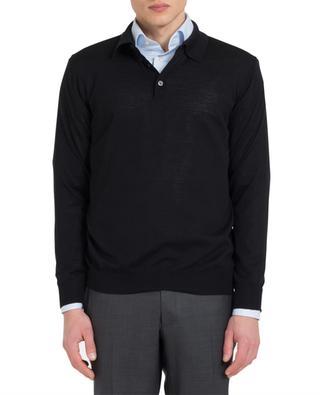 Merino wool and silk knit polo shirt MAURIZIO BALDASSARI