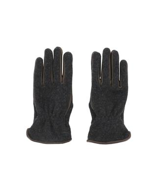 Wool blend and leather gloves PIERO RESTELLI