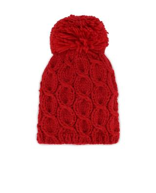 Mütze aus Wolle mit Bommel GREVI
