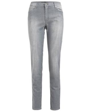 Snakeskin effect slim fit jeans RAFFAELLO ROSSI