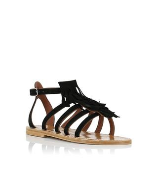 Fregate suede sandals with fringes K JACQUES
