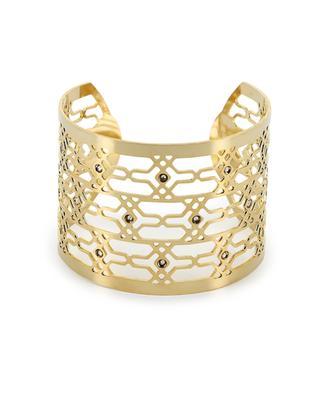 Bracelet manchette en métal doré LK DESIGN