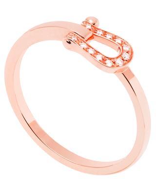 Bague Force 10 Petit Modèle en or rose et diamants FRED PARIS