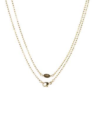 Lange Halskette aus vergoldetem Metall mit Perlen GAS BIJOUX
