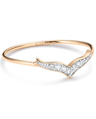 Bague en or rose Large Diamond Wise Ring GINETTE NY