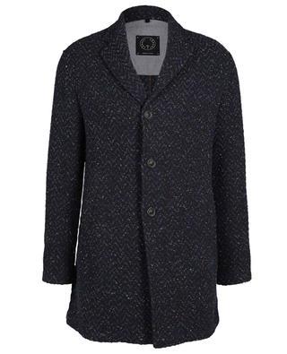 Chevron pattern three-quarter coat TONELLO