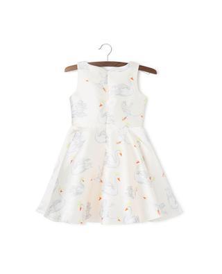 Kleid mit Schwanen-Print CHARABIA