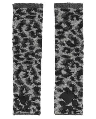 Leopard print paw mittens HAYLEY MENZIES