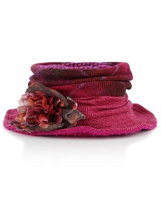 Flower adorned wool hat GREVI