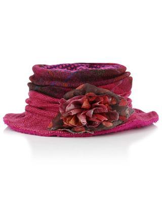 Chapeau en laine orné d'une fleur GREVI
