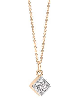 Ever rose gold necklace with diamonds GINETTE NY