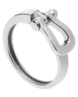 Force 10 Medium white gold and diamonds ring FRED PARIS