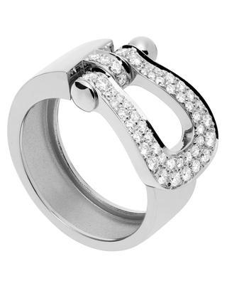 Bague Force 10 Grand Modèle en or blanc et diamants FRED PARIS