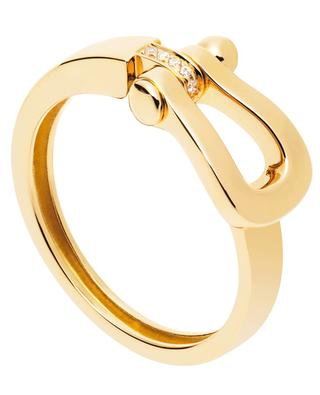 Force 10 Medium yellow gold and diamonds ring FRED PARIS
