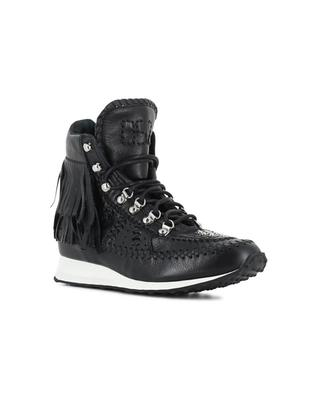 Leather high top shoes DSQUARED2