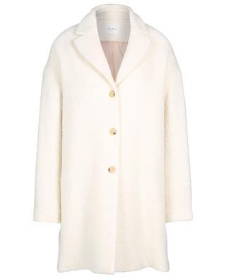 Manteau trois-quarts oversize en laine bouclette Melissa PABLO