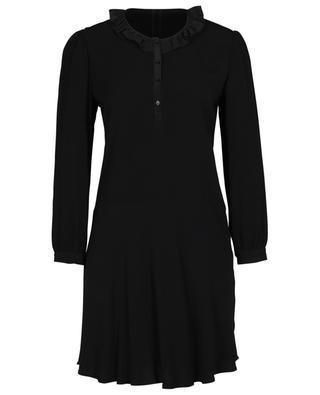 Rosamee short crepe and satin dress PABLO