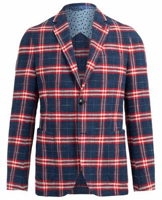 Chequered cotton blend blazer ETRO