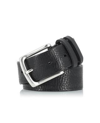 Used-look grained leather belt SERGIO GAVAZZENI