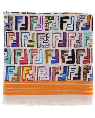 5c7afea2d89f Foulard en soie Fun Fendi FENDI ...