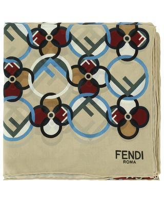 F is Fendi silk stole FENDI