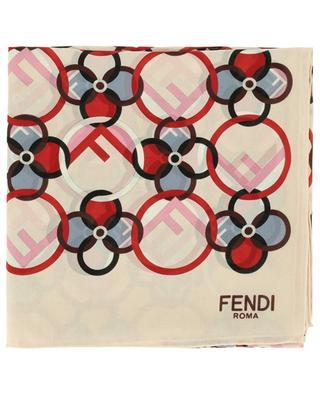 F is Fendi silk scarf FENDI