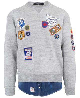 Cotton and denim sweatshirt DSQUARED2