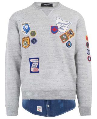 Sweatshirt aus Baumwolle und Denim DSQUARED2
