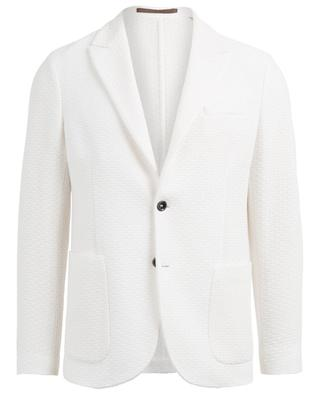 Textured cotton blazer ELEVENTY