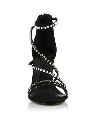 Grass high-heeled sandals with rhinestones CARVELA KURT GEIGER