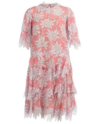 Kurzes Kleid aus Seidenmix mit Print VALENTINO