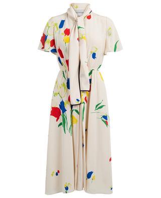 Robe imprimée en soie VALENTINO