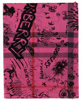 Doodle text lightweight scarf BURBERRY