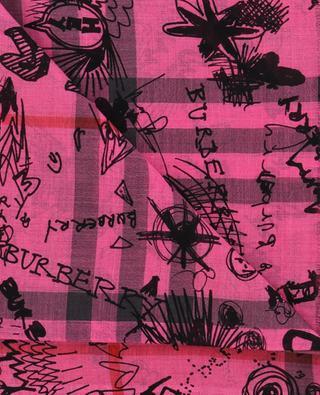 Écharpe légère Doodle Text BURBERRY