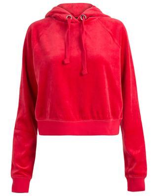 Gekürztes Sweatshirt aus Samt Cordial JCLA JUICY BY JUICY COUTU
