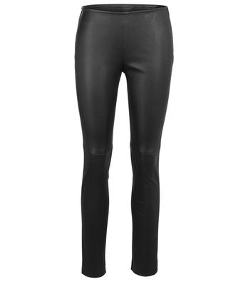 Fancy viscose blend leather slim fit trousers AKRIS PUNTO