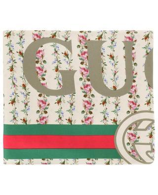 Carré en soie Gucci Rose Series GUCCI