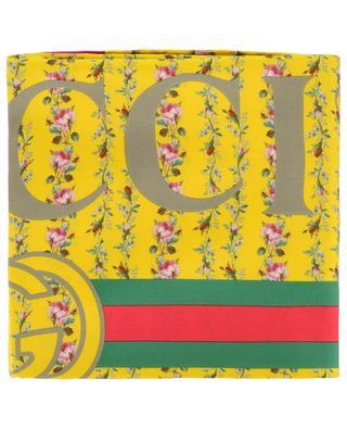 Gucci Rose Series silk square GUCCI
