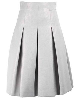 Sparkling flared cotton blend skirt AKRIS PUNTO