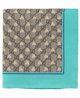 GG Bees silk shawl GUCCI