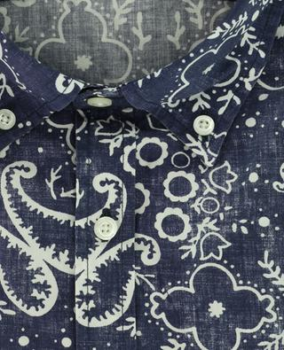 Kurzärmliges Hemd aus Baumwolle mit Print WOOLRICH